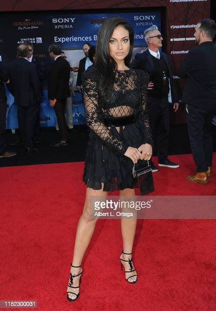 "Inanna Sarkis arrives for the Premiere Of Sony Pictures' ""Spider-Man Far From Home"" held at TCL Chinese Theatre on June 26, 2019 in Hollywood,..."