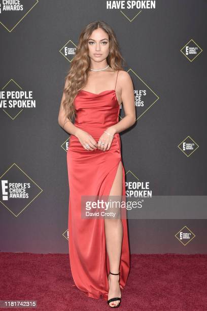 Inanna Sarkis attends 2019 E People's Choice Awards Arrivals at The Barker Hanger on November 10 2019 in Santa Monica California