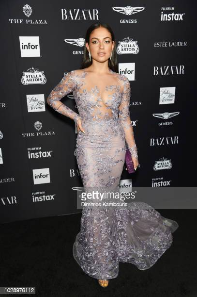Inanna Sarkis attends as Harper's BAZAAR Celebrates ICONS By Carine Roitfeld at the Plaza Hotel on September 7 2018 in New York City
