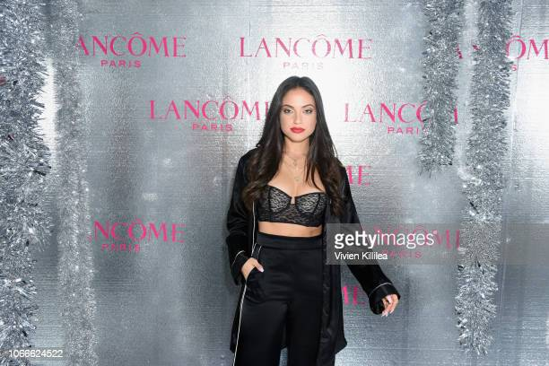 Inanna Sarkis attends Lancôme x Vogue Holiday Event at Delilah West Hollywood on November 29 2018 in West Hollywood California
