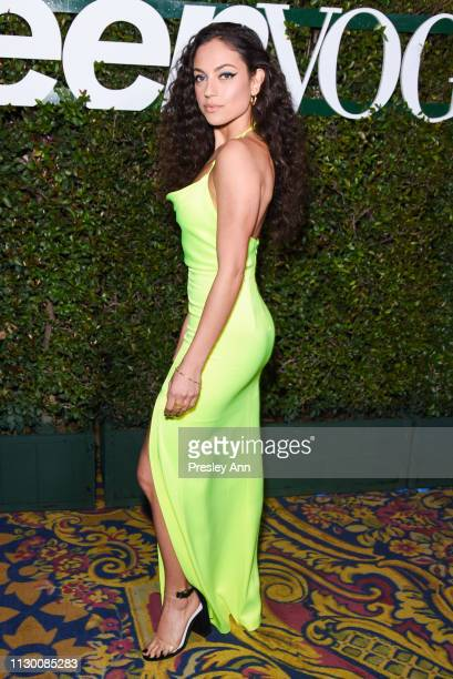 Inanna Sarkis attends Teen Vogue's 2019 Young Hollywood Party Presented By Snap at Los Angeles Theatre on February 15 2019 in Los Angeles California