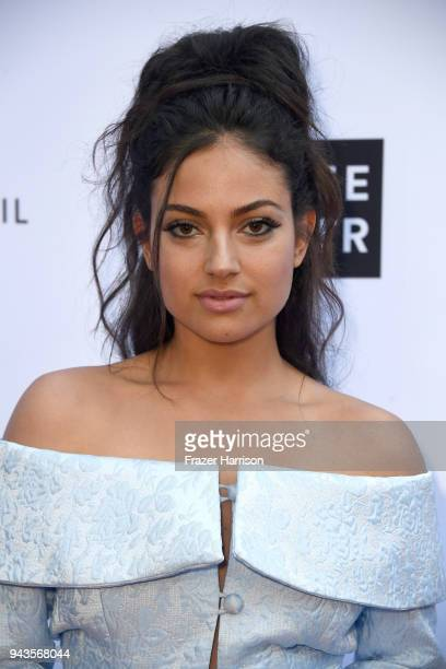 Inanna Sarkis attends The Daily Front Row's 4th Annual Fashion Los Angeles Awards at Beverly Hills Hotel on April 8, 2018 in Beverly Hills,...