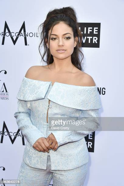 Inanna Sarkis attends The Daily Front Row's 4th Annual Fashion Los Angeles Awards - Arrivals at The Beverly Hills Hotel on April 8, 2018 in Beverly...