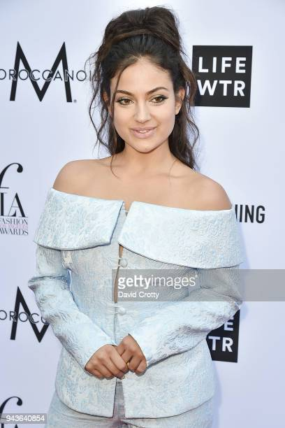 Inanna Sarkis attends The Daily Front Row's 4th Annual Fashion Los Angeles Awards Arrivals at The Beverly Hills Hotel on April 8 2018 in Beverly...