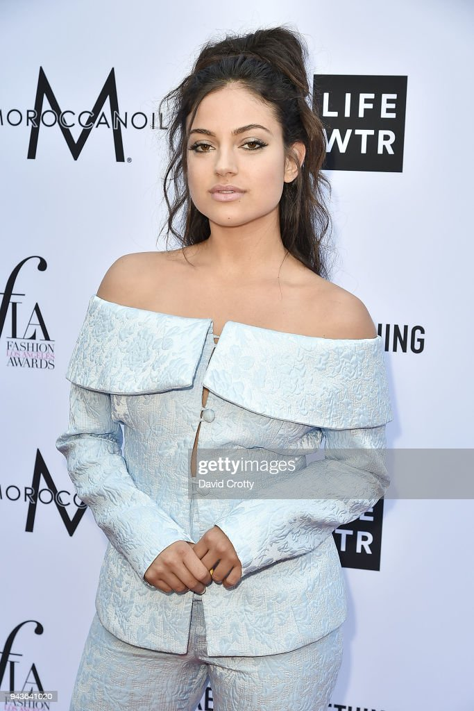 Inanna Sarkis attends The Daily Front Row's 4th Annual Fashion Los Angeles Awards - Arrivals at The Beverly Hills Hotel on April 8, 2018 in Beverly Hills, California.