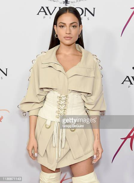 Inanna Sarkis attends the Los Angeles Premiere Of Aviron Pictures' After at The Grove on April 8 2019 in Los Angeles California