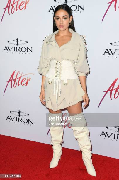 Inanna Sarkis attends the Los Angeles premiere of Aviron Pictures' After at The Grove on April 08 2019 in Los Angeles California