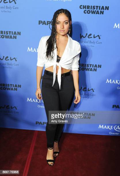 Inanna Sarkis attends the PAPER Magazine Runway Benefit For MakeAWish Foundation at The Taglyan Complex on October 24 2017 in Los Angeles California