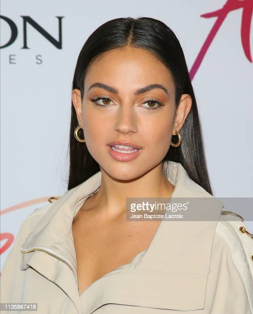 Inanna Sarkis attends the premiere of Aviron Pictures' 'After' at The Grove on April 08 2019 in Los Angeles California