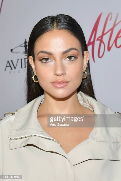 Inanna Sarkis attends the premiere of Aviron Pictures' After at The Grove on April 08 2019 in Los Angeles California