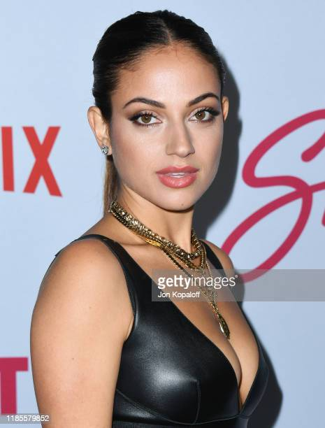 "Inanna Sarkis attends the LA premiere of Netflix's ""Let It Snow"" at Pacific Theatres at The Grove on November 04, 2019 in Los Angeles, California."
