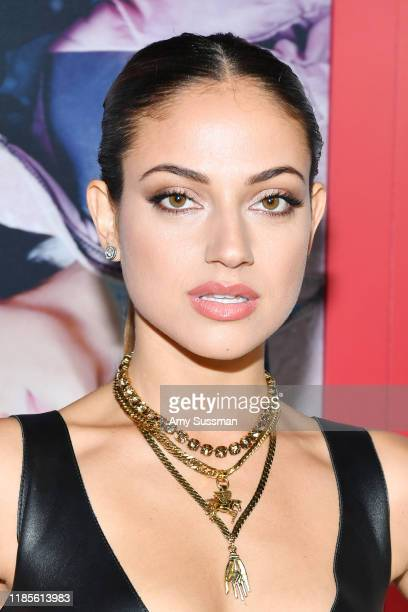 "Inanna Sarkis attends the premiere of Netflix's ""Let It Snow"" at Pacific Theatres at The Grove on November 04, 2019 in Los Angeles, California."