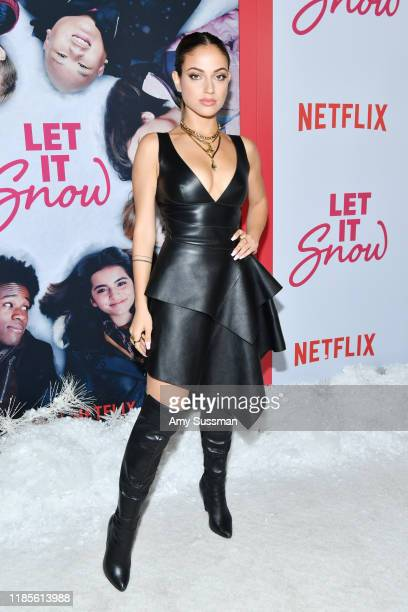 Inanna Sarkis attends the premiere of Netflix's Let It Snow at Pacific Theatres at The Grove on November 04 2019 in Los Angeles California