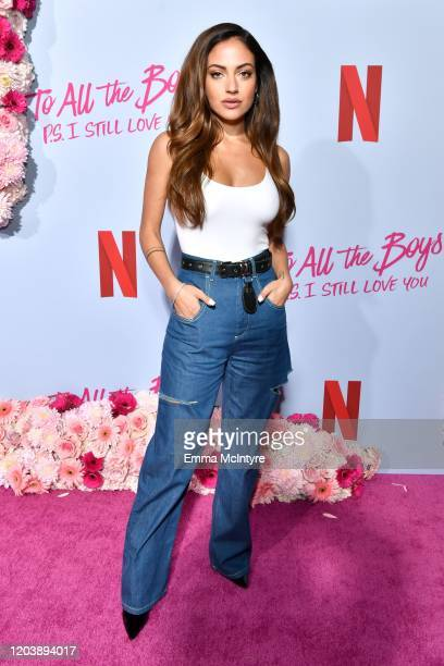 Inanna Sarkis attends the premiere of Netflix's 'To All the Boys PS I Love You' at The Egyptian Theatre on February 03 2020 in Los Angeles California