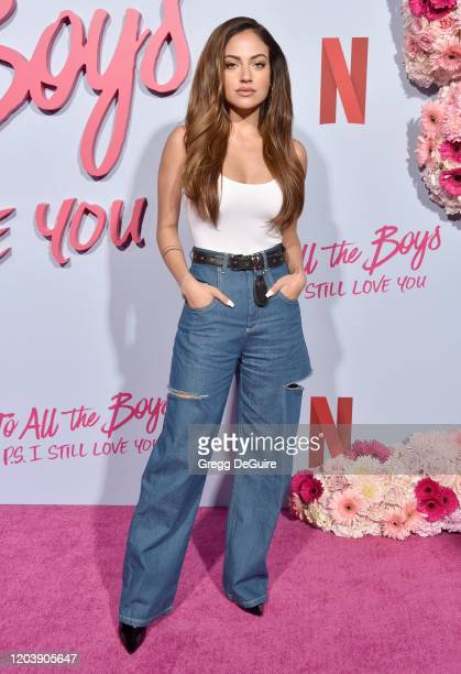 Inanna Sarkis attends the Premiere Of Netflix's To All The Boys PS I Still Love You at the Egyptian Theatre on February 03 2020 in Hollywood...