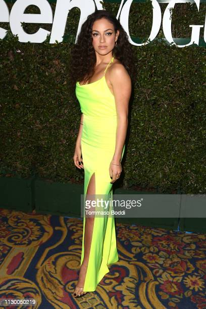 Inanna Sarkis attends the Teen Vogue's 2019 Young Hollywood Party Presented By Snap at Los Angeles Theatre on February 15 2019 in Los Angeles...