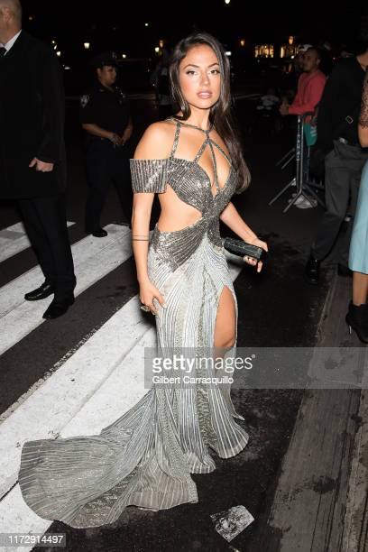 "Inanna Sarkis is seen arriving to Harper's BAZAAR Celebrates ""ICONS By Carine Roitfeld"" At The Plaza Hotel Presented By Cartier on September 06, 2019..."