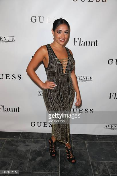 Inas X arrives at the Flaunt and Guess celebration of the Alternative Facts Issue hosted by Joe Jonas and DNCE at Avenue on April 11 2017 in Los...