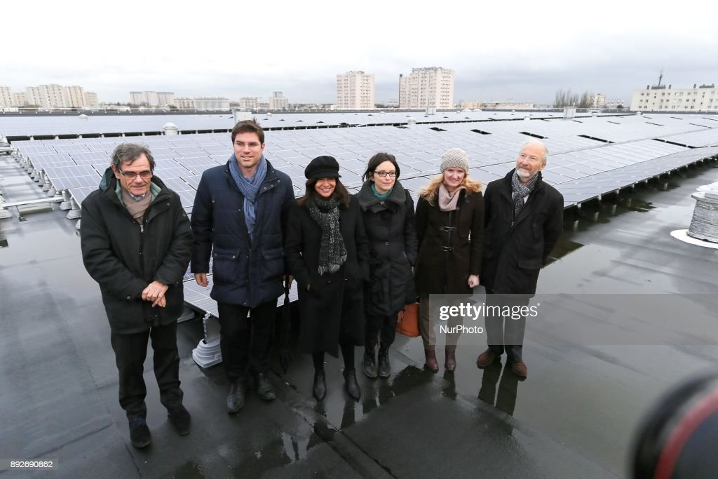 Inauguration of the largest rooftop photovoltaic power station of the region Ile-de-France : Photo d'actualité