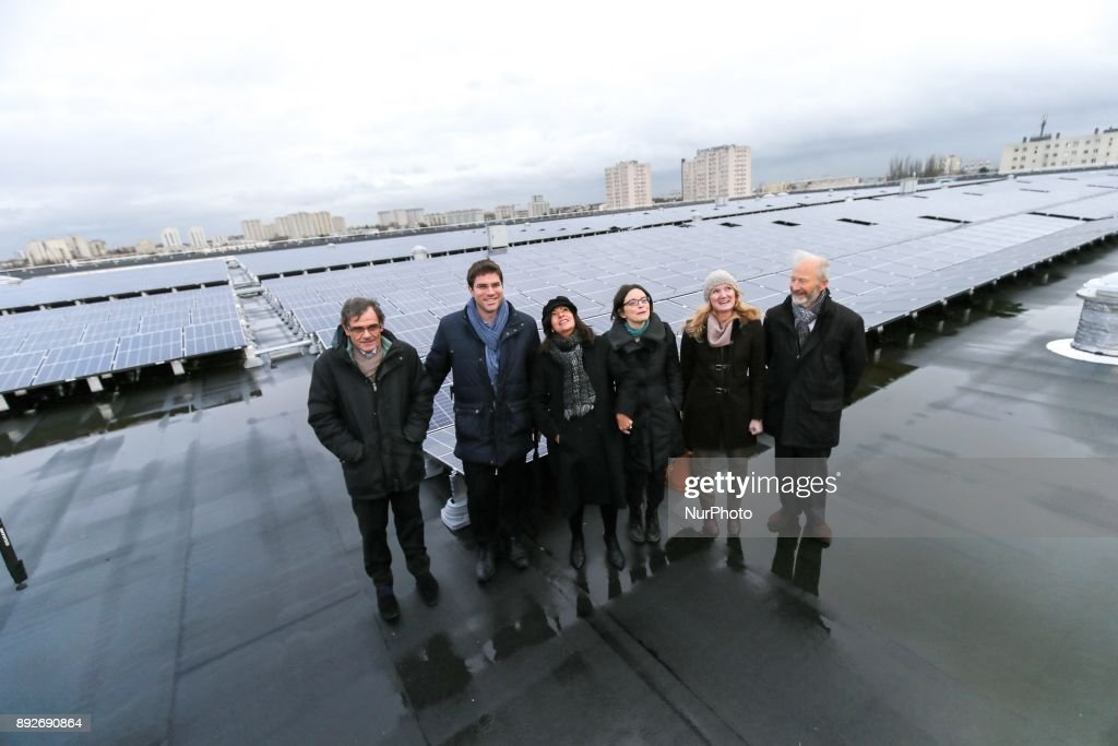 Inauguration of the largest rooftop photovoltaic power station of the region Ile-de-France