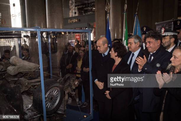 Inauguration ceremony in the presence of the institutional offices on display is the reliquary that houses the remains of the armoured Croma on which...