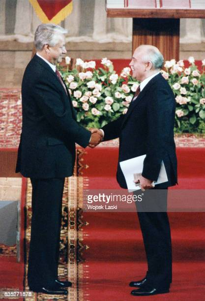 Inauguration of Boris Yeltsin as the first President of Russia State Kremlin Palace Moscow Russia on 10th July 1991 Pictured Boris Yeltsin President...