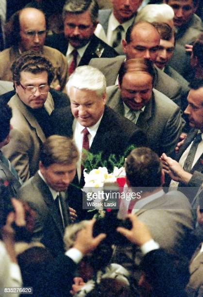 Inauguration of Boris Yeltsin as the first President of the Russian Soviet Federative Socialist Republic. State Kremlin Palace, Moscow, Russia, on...