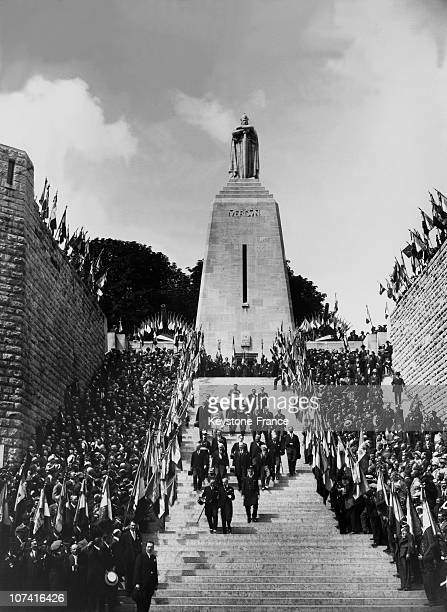 Inauguration Of Douaumont Ossuary By The President Albert Lebrun In France On August 7Th 1932