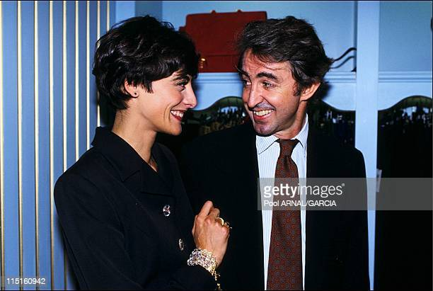 Inauguration of Ines de la Fressange's luxury shop in France in October, 1991 - Ines de la Fressange with Luigi D'Urso.