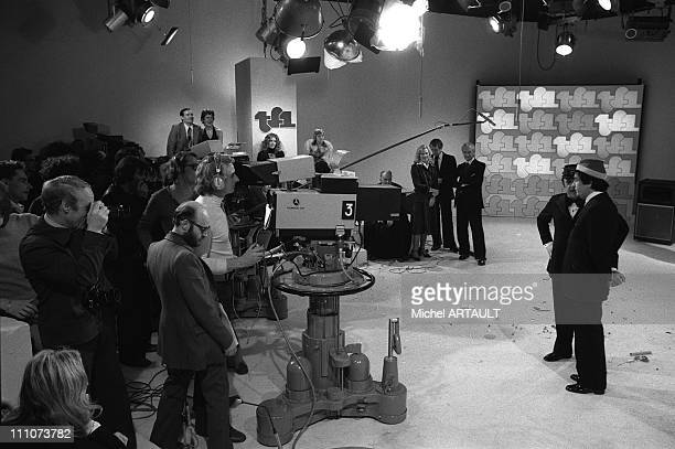 Inauguration of TF1 in France on January 06th 1975