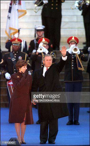 Inauguration of the 43th president of the United States Georges W. Bush in Washington, United States on January 18, 2001 - Georges W.Bush and his...