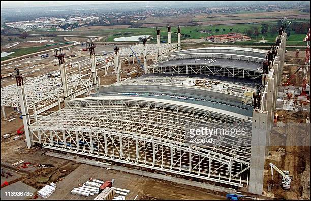 Inauguration of the assembly line for the Airbus A380 In Toulouse France On May 07 2004The European building site for the assembling of the A380...