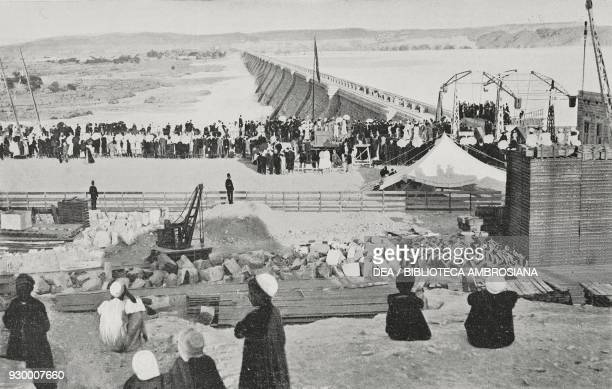 Inauguration of the Aswan water reservoir Egypt, photograph by A Marques, from L'Illustrazione Italiana, Year XXX, No 1, January 4, 1903.