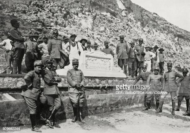 Inauguration of the Derna Aqueduct with General Giulio Cesare Tassoni in attendance Libya from L'Illustrazione Italiana Year XL No 14 April 6 1913