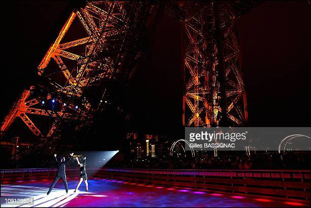 Inauguration Of The Ice Rink On The Eiffel Tower On December 9 2004 In Paris France At 57 Meters Above The Champ De Mars Garden On The First Floor...