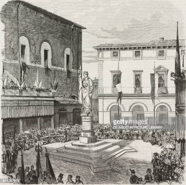 Inauguration of the monument in memory of those who died for their country by L Borro in Treviso Italy on September 20 illustration from the magazine...