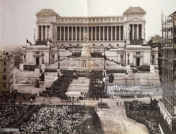 Inauguration of the monument to Victor Emmanuel II known as Vittoriano Rome 1911 Italy 20th century