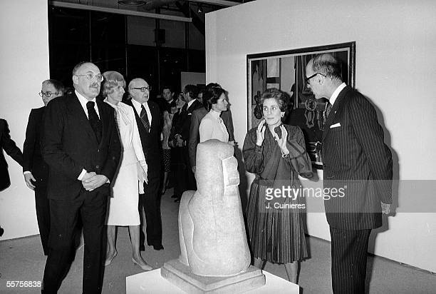 Inauguration of the national Centre of art and culture Georges Pompidou From left to right Pontus Hulten Swedish director of the national Museum of...