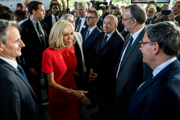 FRA: Inauguration Of The Respite House By Brigitte Macron And Sophie Cluzel In Tassin-La-Demie-Lune Near Lyon