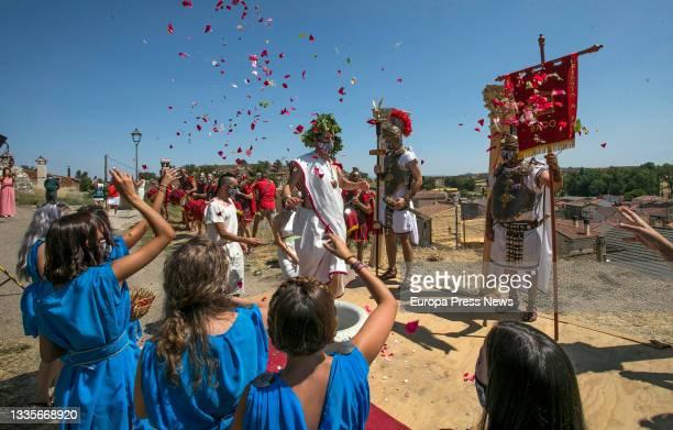 Inauguration of the Roman Festival in Honor of the God Bacchus, on 22 August, 2021 in Baños de Valdearados, Burgos, Castilla y Leon, Spain. The...