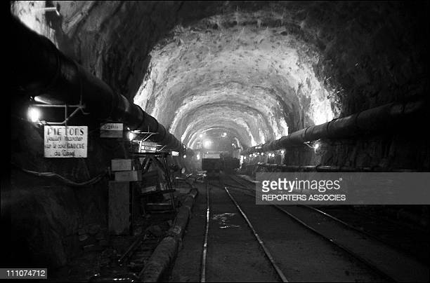 Inauguration of the tunnel between chamonix Mont Blanc and courmayeur in France on September 15th 1962