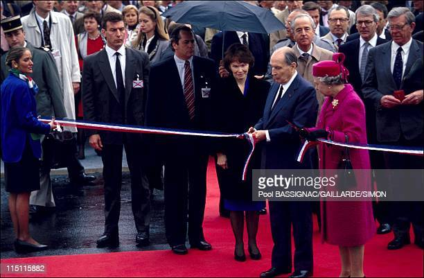 Inauguration of the tunnel under Manche in France on may 06 1994