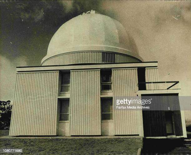 Inauguration of the UK's 48 inch Schmidt Telescope at Siding Spring Coonabarabran NSW Observatory building August 17 1973