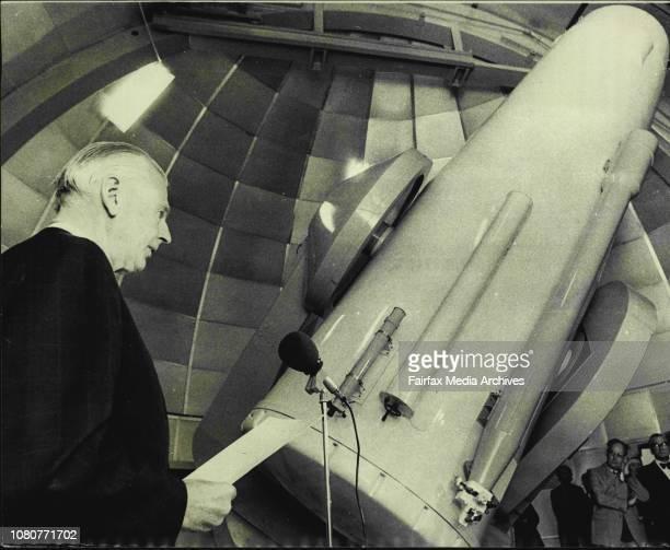 Inauguration of the UK's 48 inch Schmidt Telescope at Siding Spring CoonabarabranProfessor Bengt Stromgren President IAU in opening speech August 17...