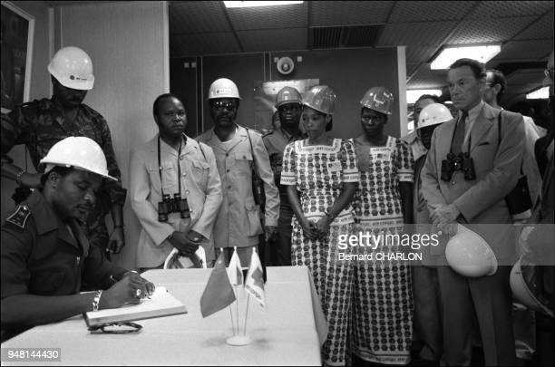 Inauguration of Yanga petrol platform with Sassou N'Gguessou Congo president