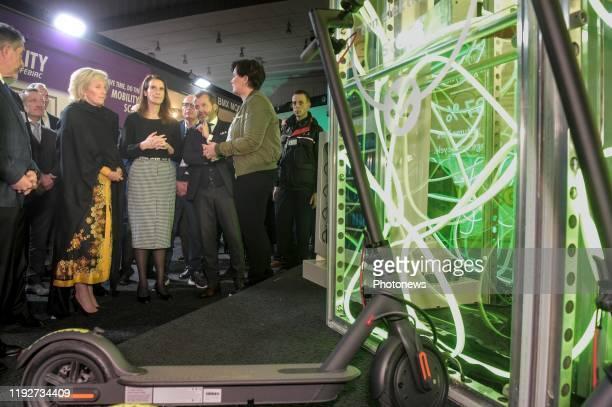 Inauguration officielle de la 98e édition du Brussels Motor Show en présence de la princesse Astrid Officiële inhuldiging van de 98ste editie van de...