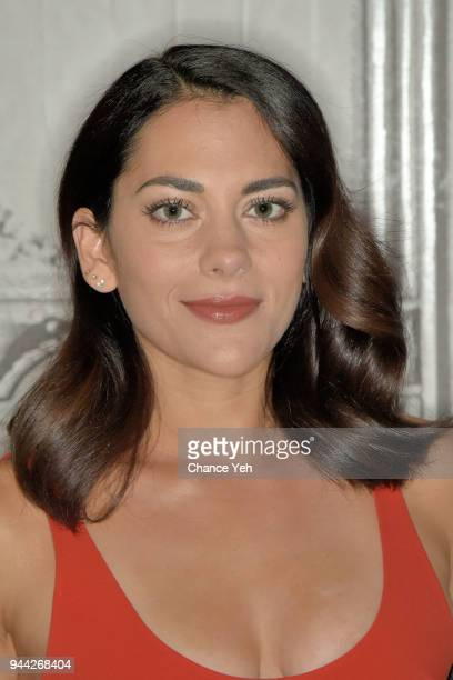 Inbar Lavi attends Build series to discuss Imposters at Build Studio on April 10 2018 in New York City