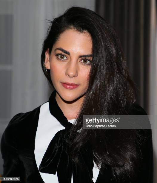 Inbar Lavi attends the Wolk Morais Collection 6 Fashion Show on January 17 2018 in Los Angeles California