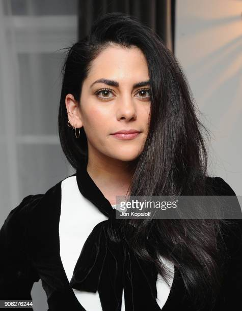 Inbar Lavi attends Wolk Morais Collection 6 Fashion Show at The Hollywood Roosevelt Hotel on January 17 2018 in Los Angeles California