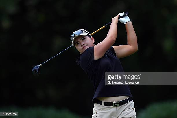 Inbee Park of South Korea hits a tee shot during the first round of the PG Beauty NW Arkansas Championship presented by John Q Hammons on July 4 2008...